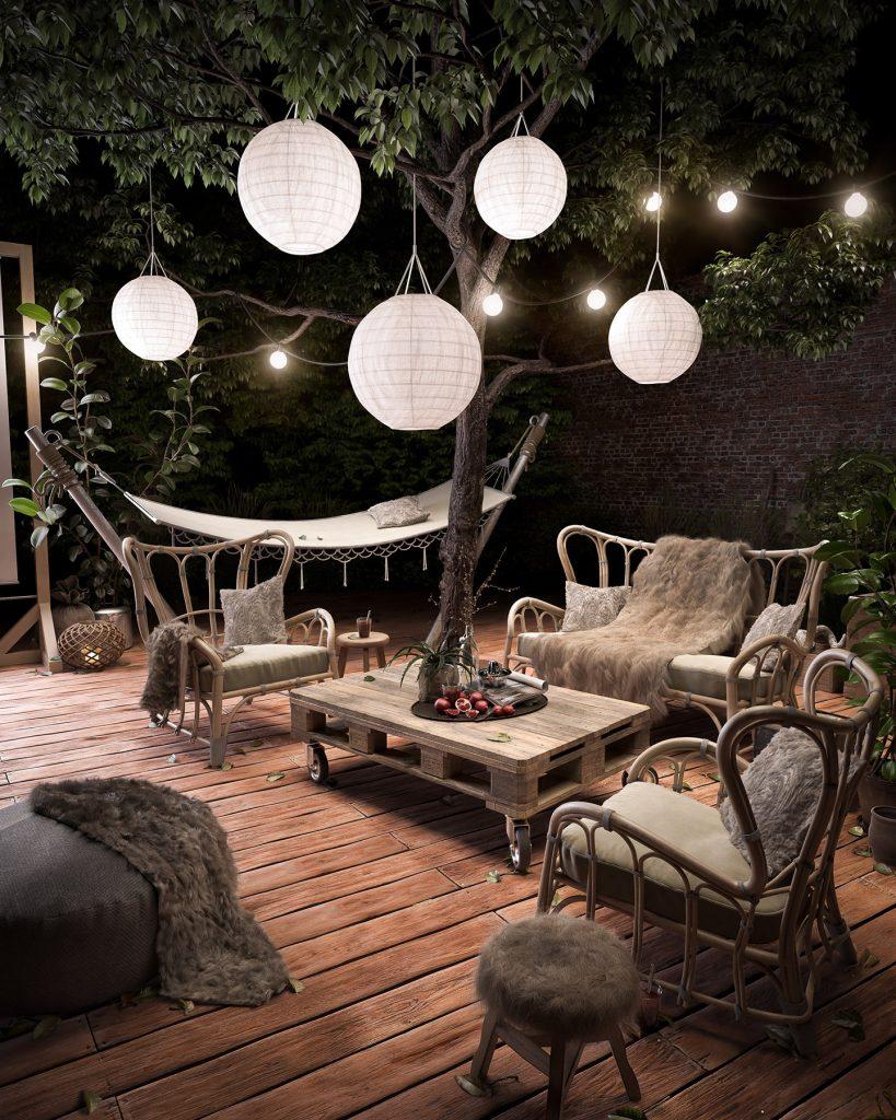 Deck Garden Render | Nordvisual
