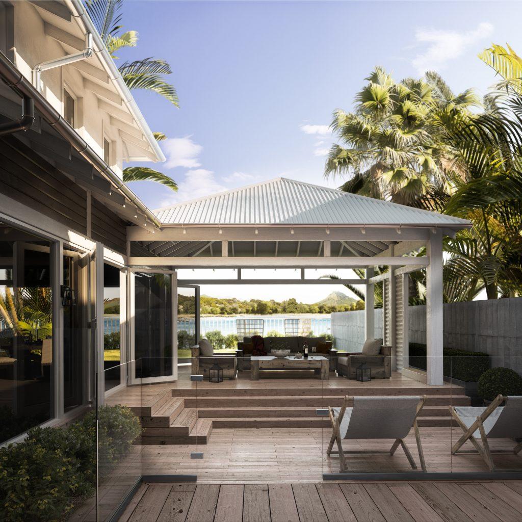 Palm Deck Render | Nordvisual