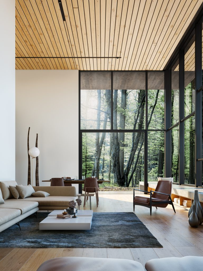 Living Room in the Woods | Nordvisual